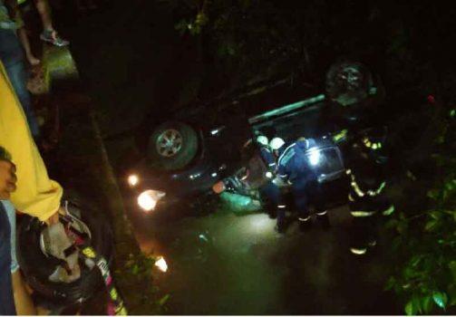 Accidente registrado en vía al Morro