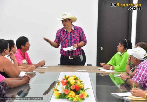Gobernador socializa inversiones con líderes de Yopal.