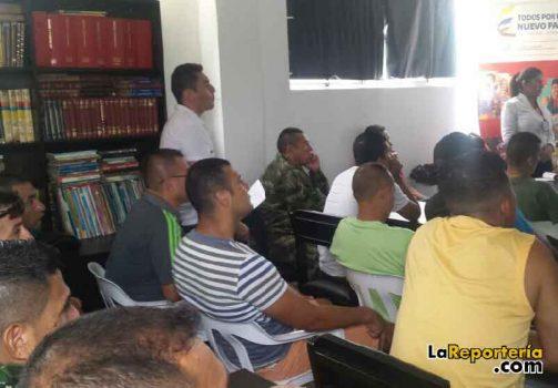 Socialización en centro de reclusion militar
