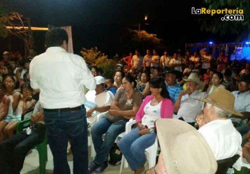 Luis Eduardo Castro en corregimientos /
