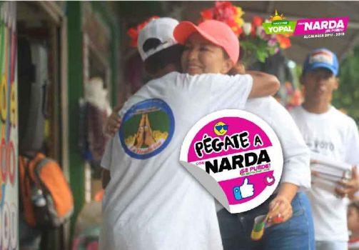 Pégate a Narda, campaña de la candidata a la Alcaldía de Yopal/
