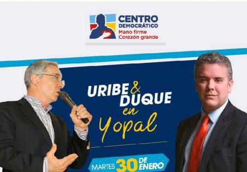 Uribe - Duque en Yopal y Aguazul/