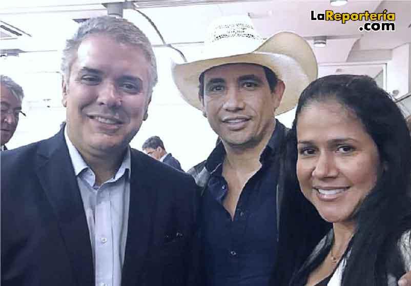 Presidente Duque -Gobernador y Gestora Social de Casanare.