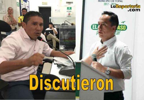 Concejal Leal y Alcalde Puentes.