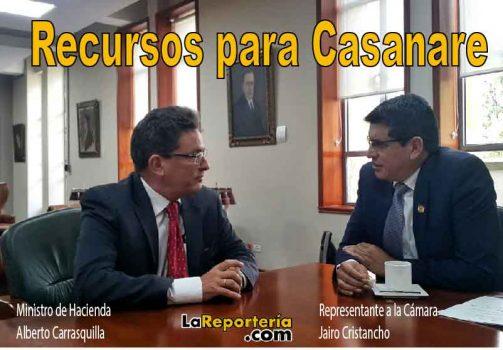 MinHacienda y representante Jairo Cristancho.