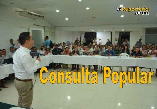 Reunión en donde se define que habrá consulta popular.