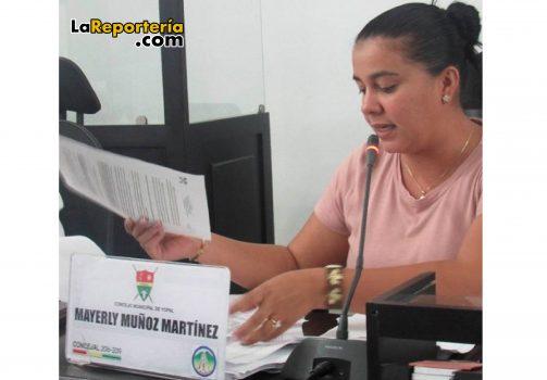 Concejal Mayerly Muñoz-