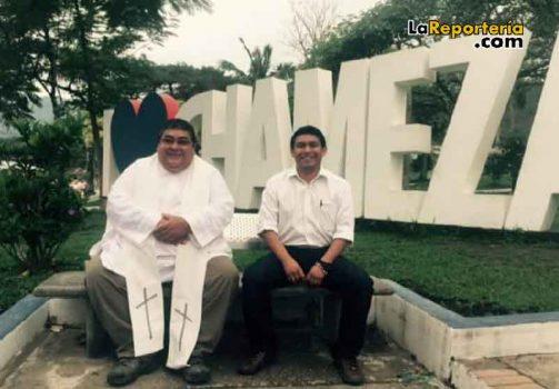 Párroco Mario Simbaqueva y Personero Norberto Martínez.