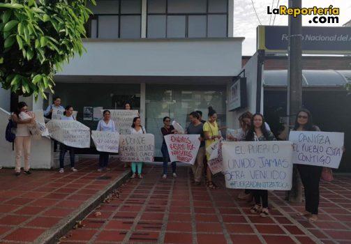 Así fue la protesta en la Personería de Yopal.