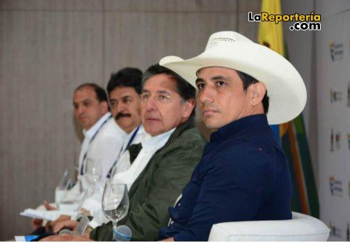 Gobernador Alirio Barrera - Fiscal General Néstor Humberto Martínez - Carlos Julio González, presidente de la Federación Nacional de Departamentos.