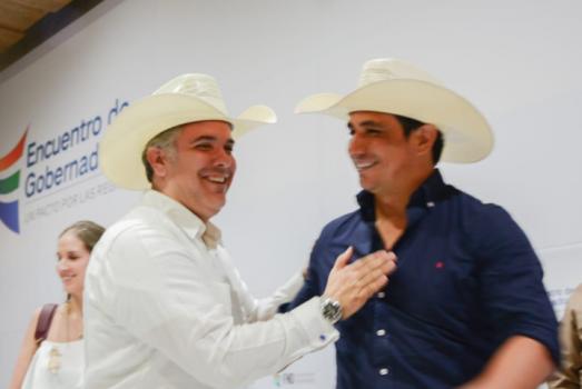 Presidente Iván Duque y Gobernador de Casanare Alirio Barrera.