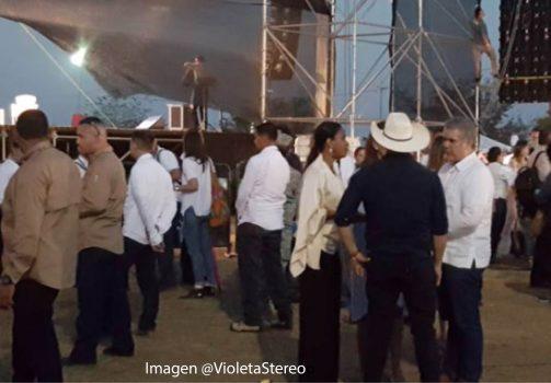 El presidente Duque le pidió al Gobernador Alirio Barrera que no abandonara el escenario.