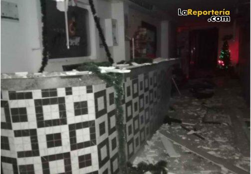 Así fue atacado Hotel en Paz de Ariporo.