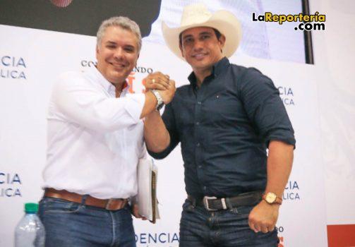 Presidente Iván Duque y gobernador Alirio Barrera.