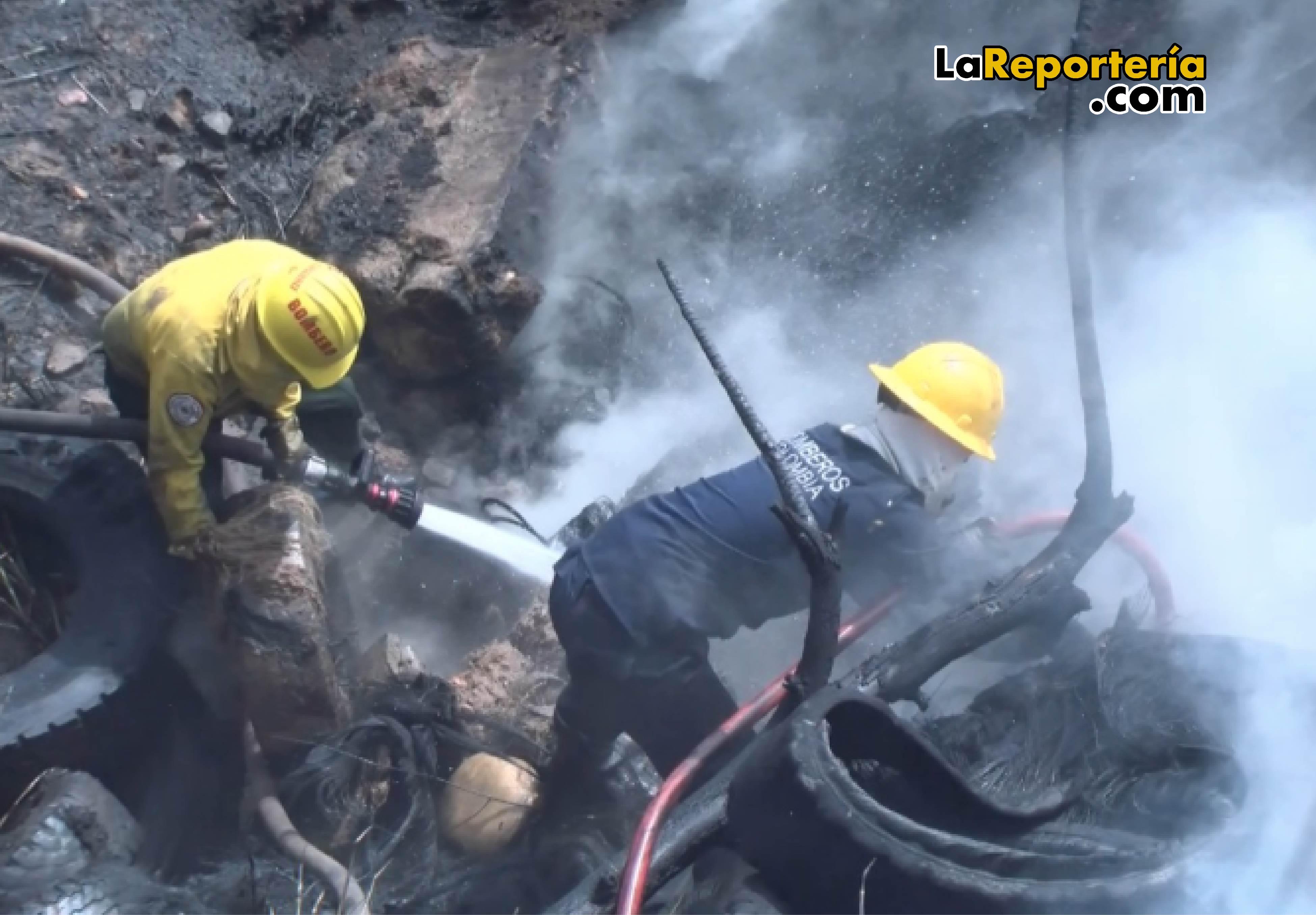 Bomberos Yopal atendieron incendio.