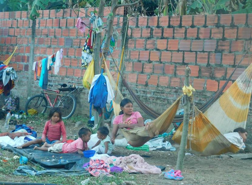 Cerca de 350 indígenas llegaron hasta Paz de Ariporo.