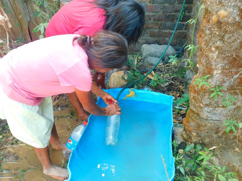 Señalan que el agua de consumo era la misma que utilizaban para bañarse.
