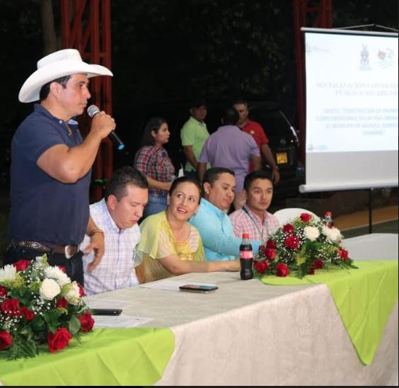 Socialización en Aguazul.