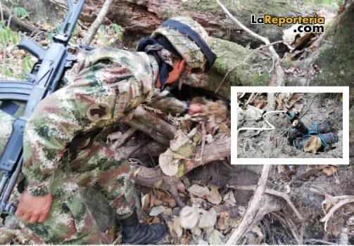 Hallan minas antipersona en Aguazul