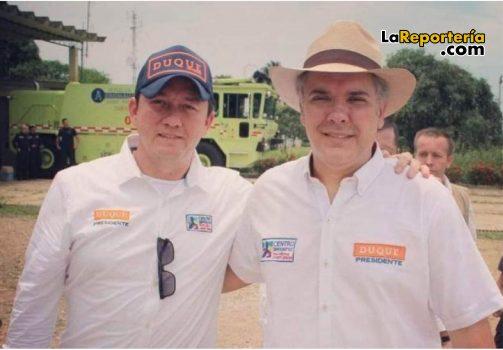 Rubiel Vargas y presidente Iván Duque.