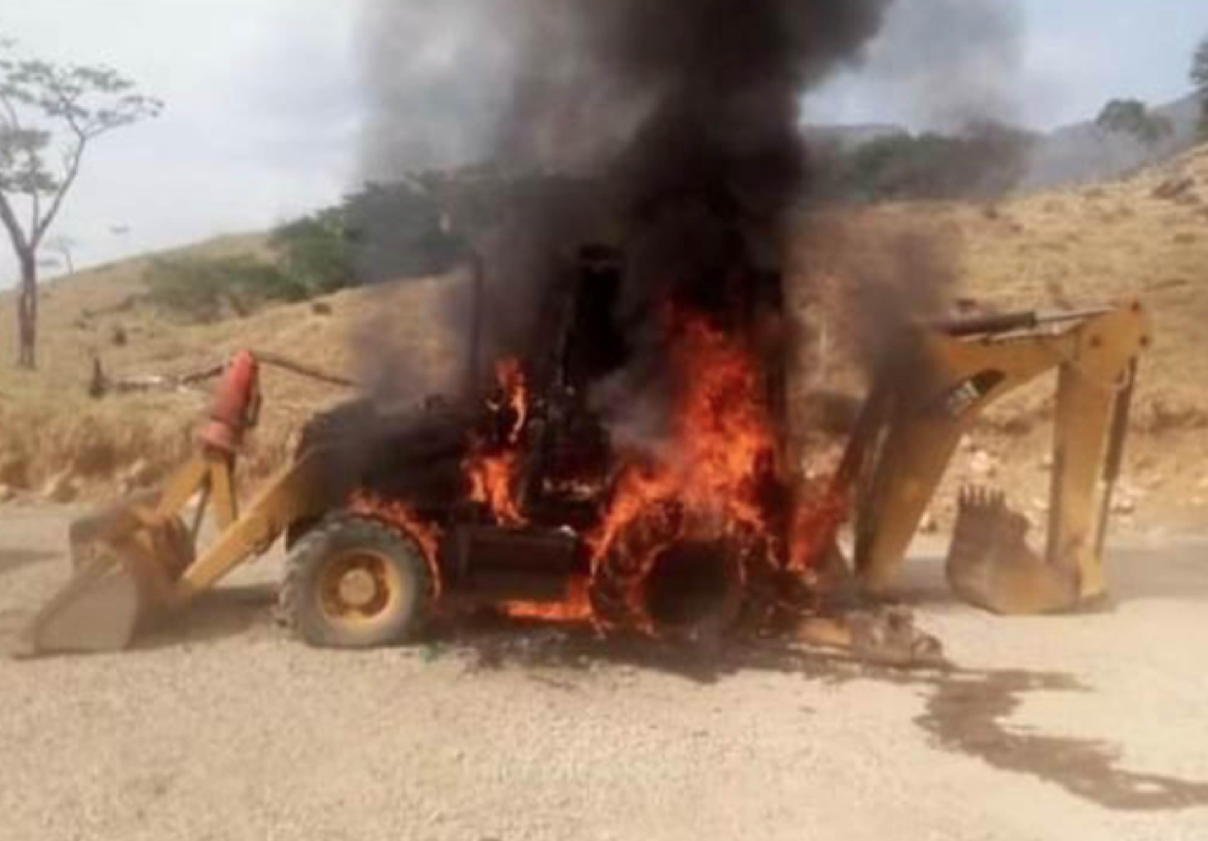 Maquina quemada-