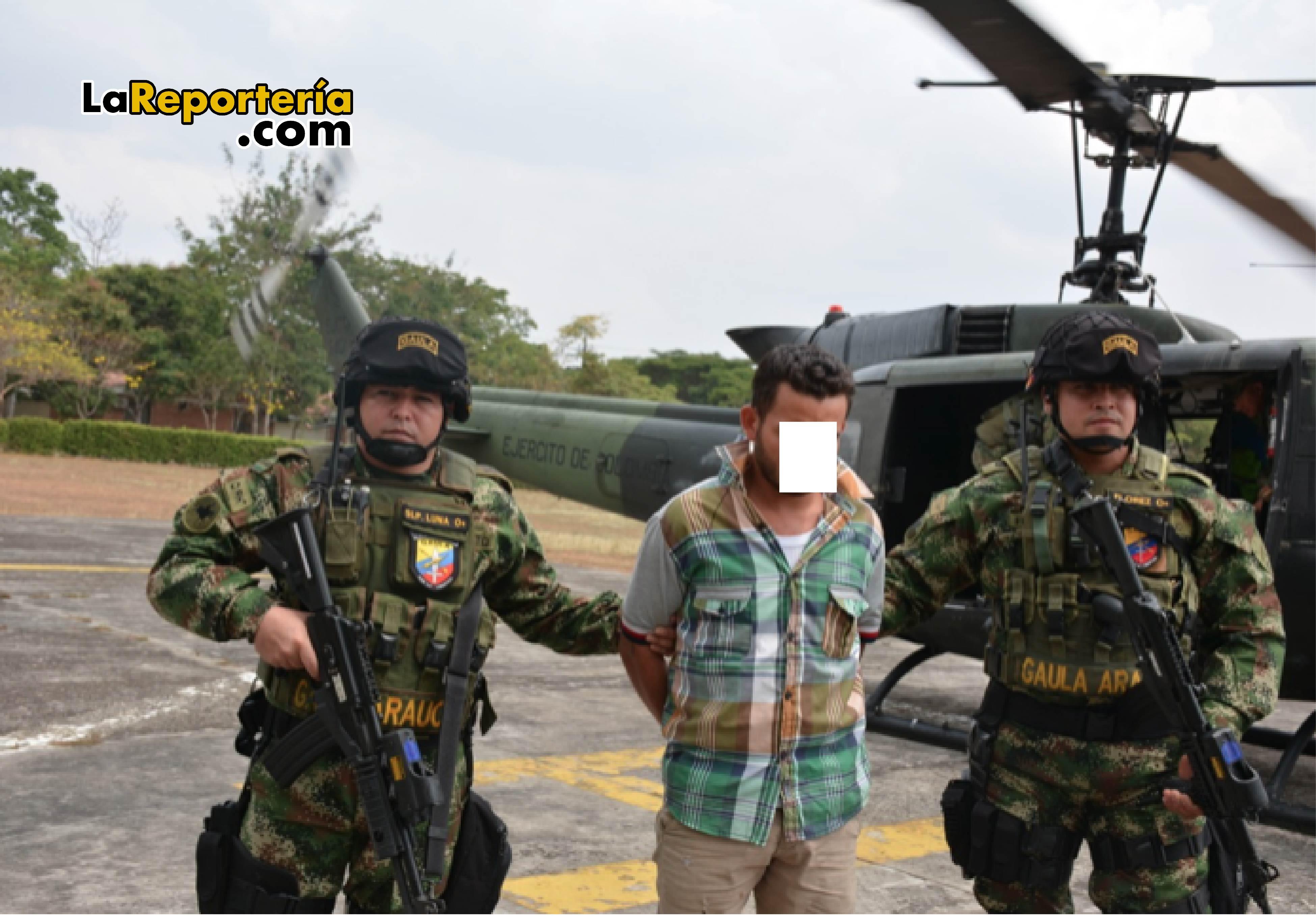 Capturado en Fortul Arauca .
