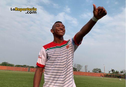 Diomedez, el jugador que marcó el primer gol de Bicentenario Fútbol Club.