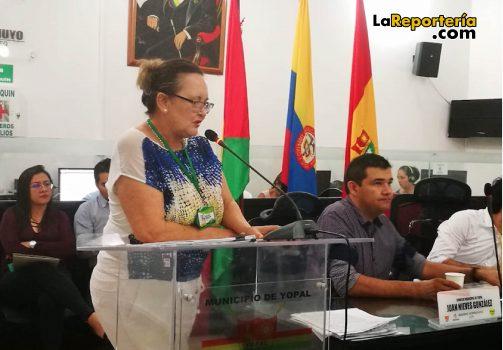 Nelly Bermúdez, secretaria de Hacienda de Yopal.