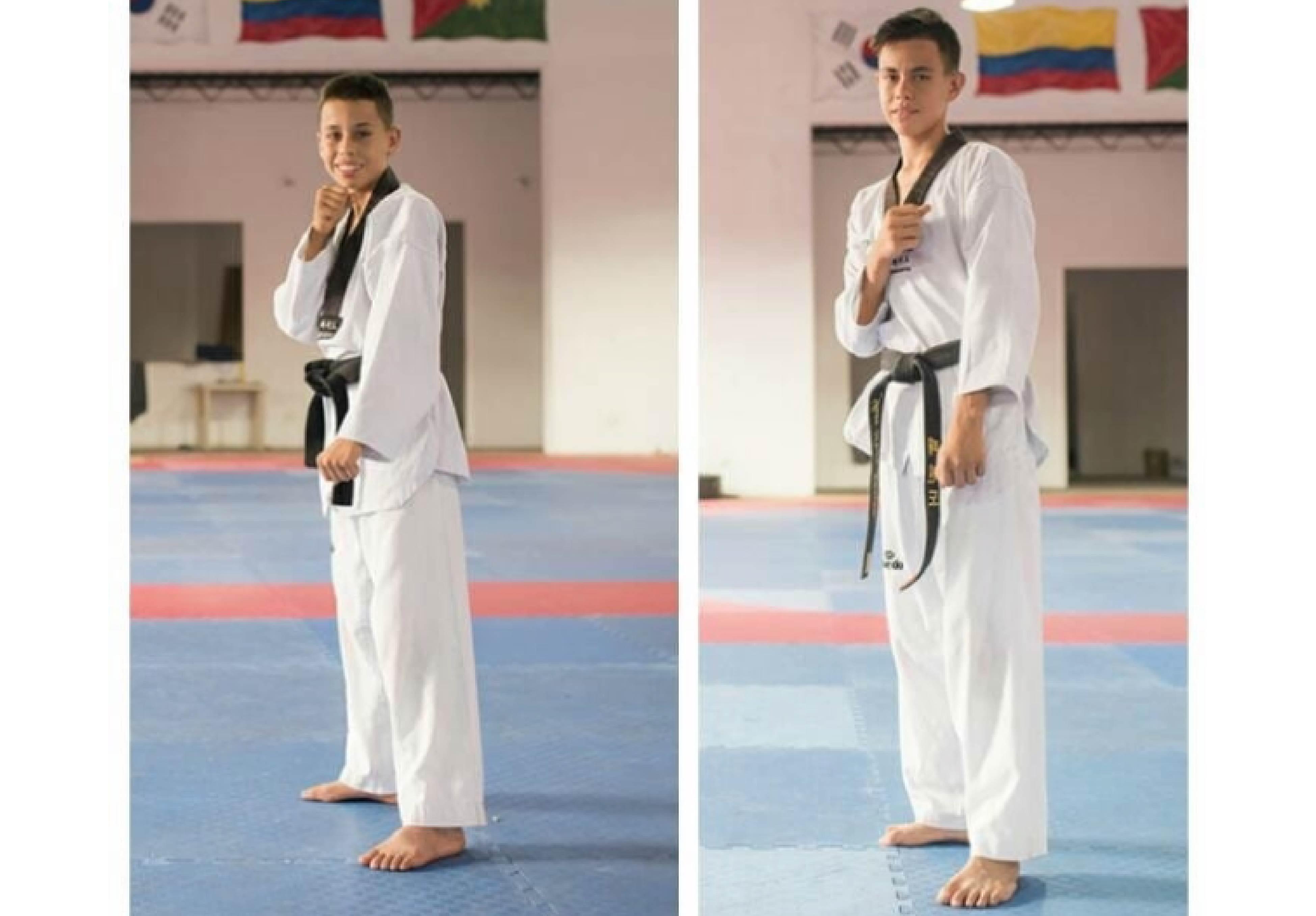 Hermanos Jhon y Brayan Garrido Reyes.