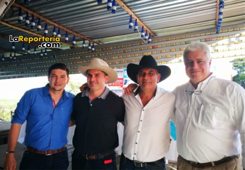 De izq a Drcha - Salomón Sanabria - Carlos Fredy Mejía - Julián Fonseca - Andrés Rueda.
