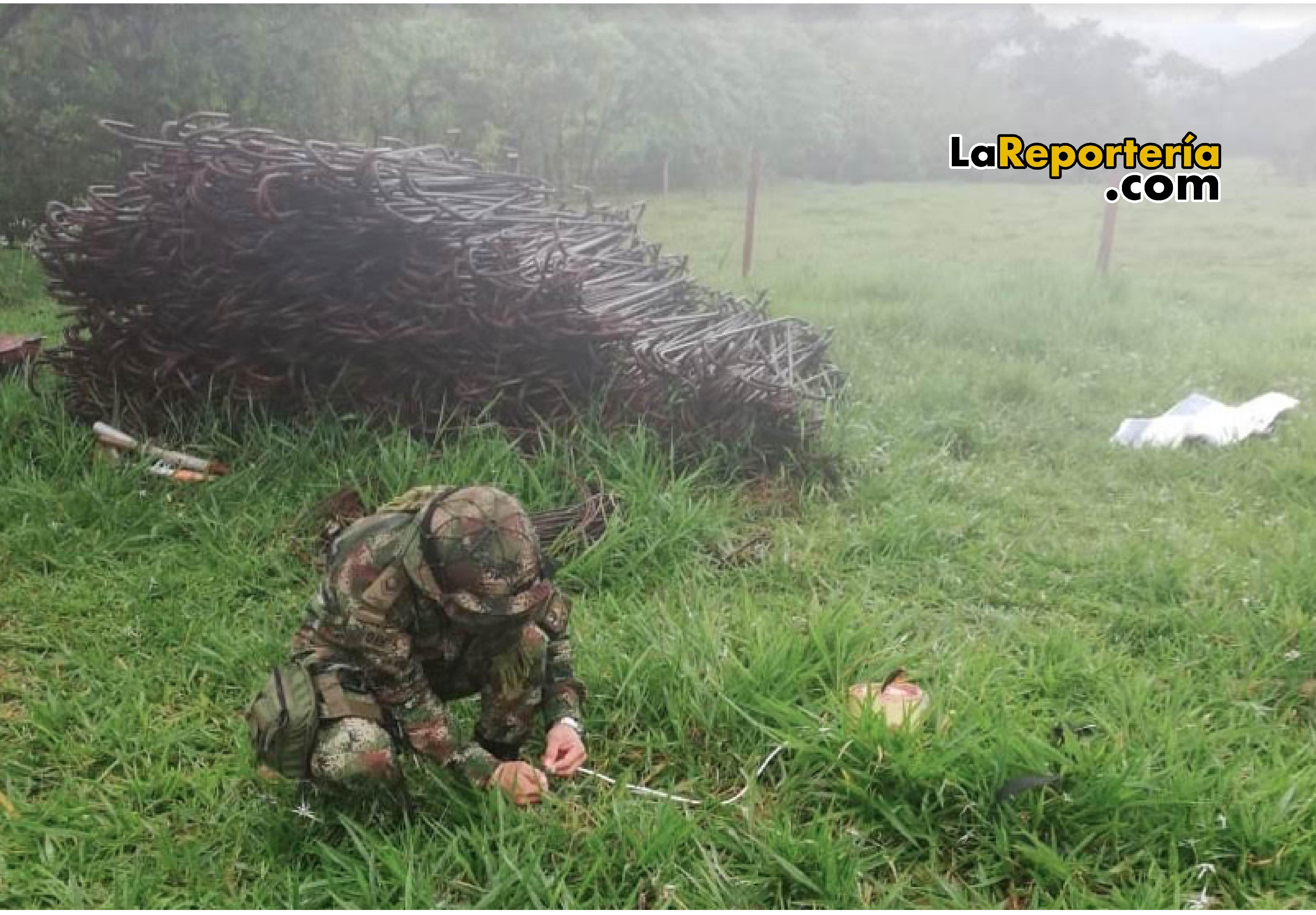 Ejército Nacional destruyó controladamente artefacto explosivo.