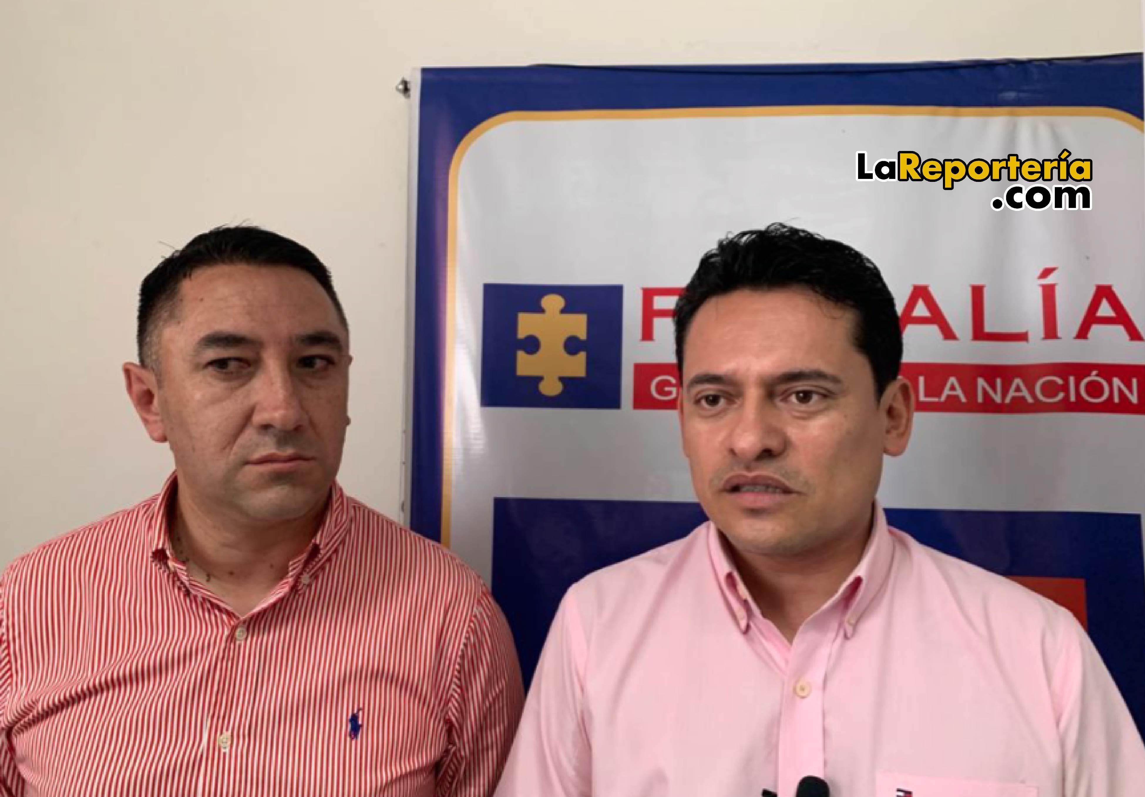 Personero César Figueredo y Fiscal Jhon Fredy Encinales-