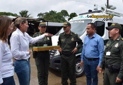 Equión entregó este CAI movil para atender seguridad en el corregimiento El Morro.