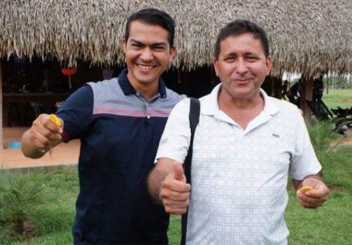 Alcalde Tocayera y ex alcalde Monchy-