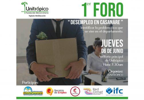 Primer Foro de Desempleo en Casanare.