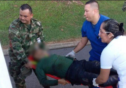 En combate resultó herido el presunto guerrillero.