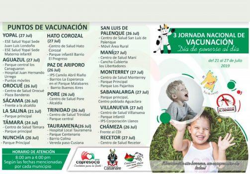 Estas son las fechas de la Jornada de Vacunación por directriz de Capresoca.