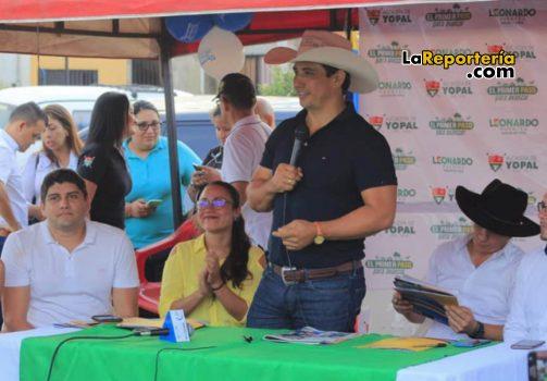 Gobernador Alirio Barrera en la socialización del proyecto en Villa David