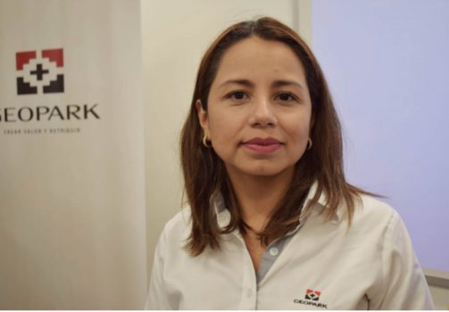 Gerente social de GeoPark, Luisa Vargas.