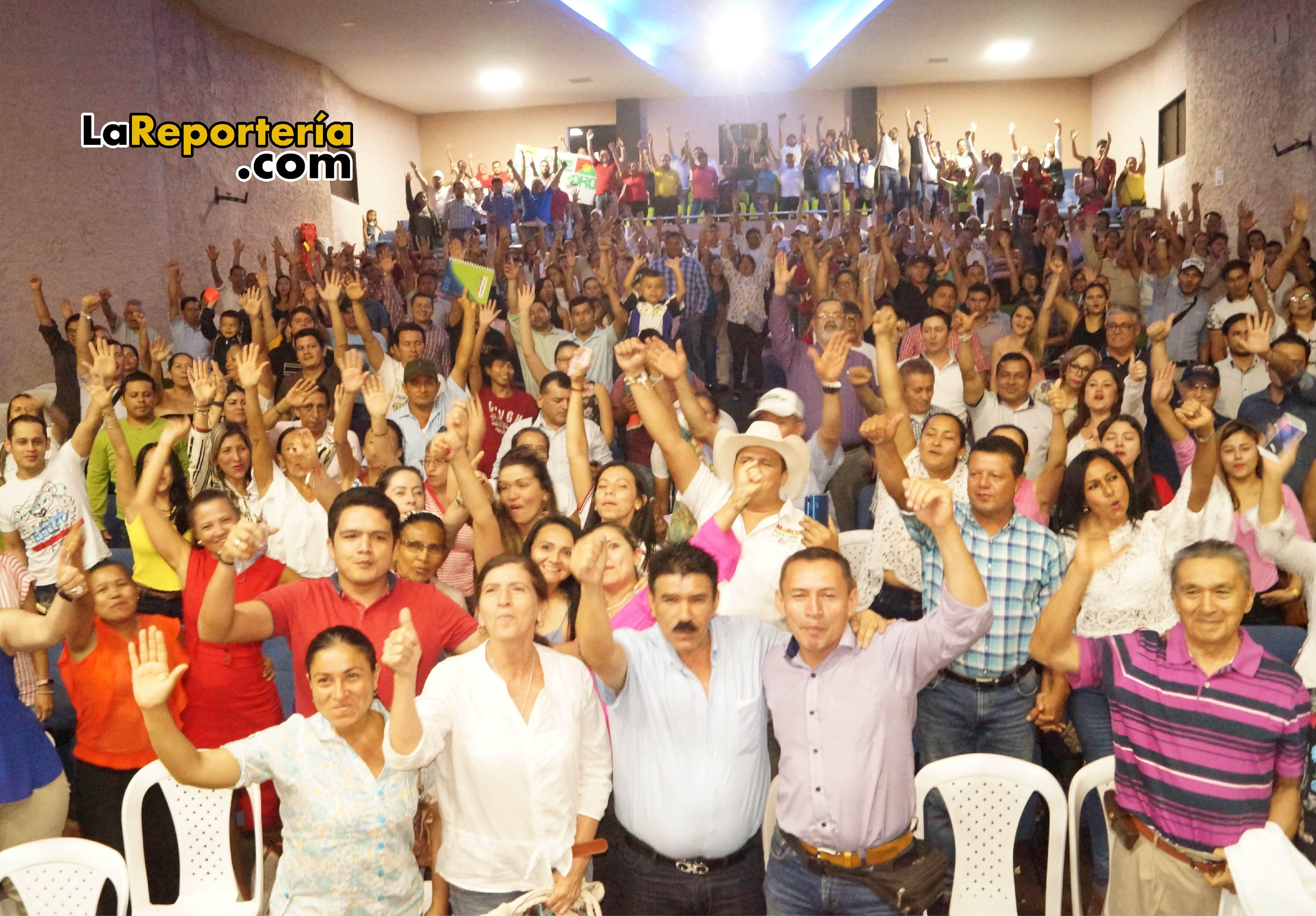 Voluntarios que han llegado a la campaña de Marco Tulio Ruiz