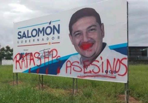 Afectaciones de las vallas de Salomón Sanabria.