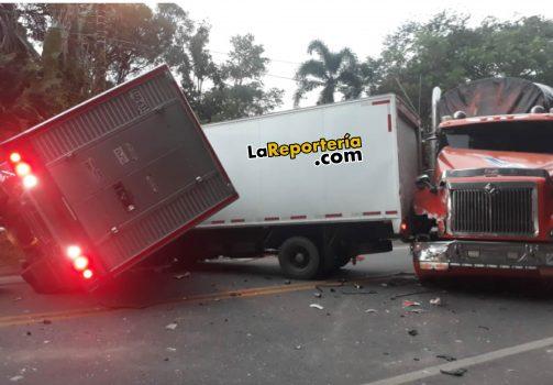 Accidente registrado en La Guafilla.