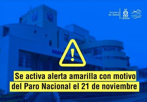 Hospital Alerta Amarilla.