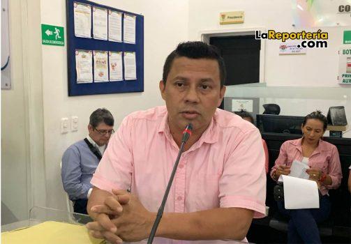 William Galvis vocero Unión Temporal Alimentando Yopal 2019.