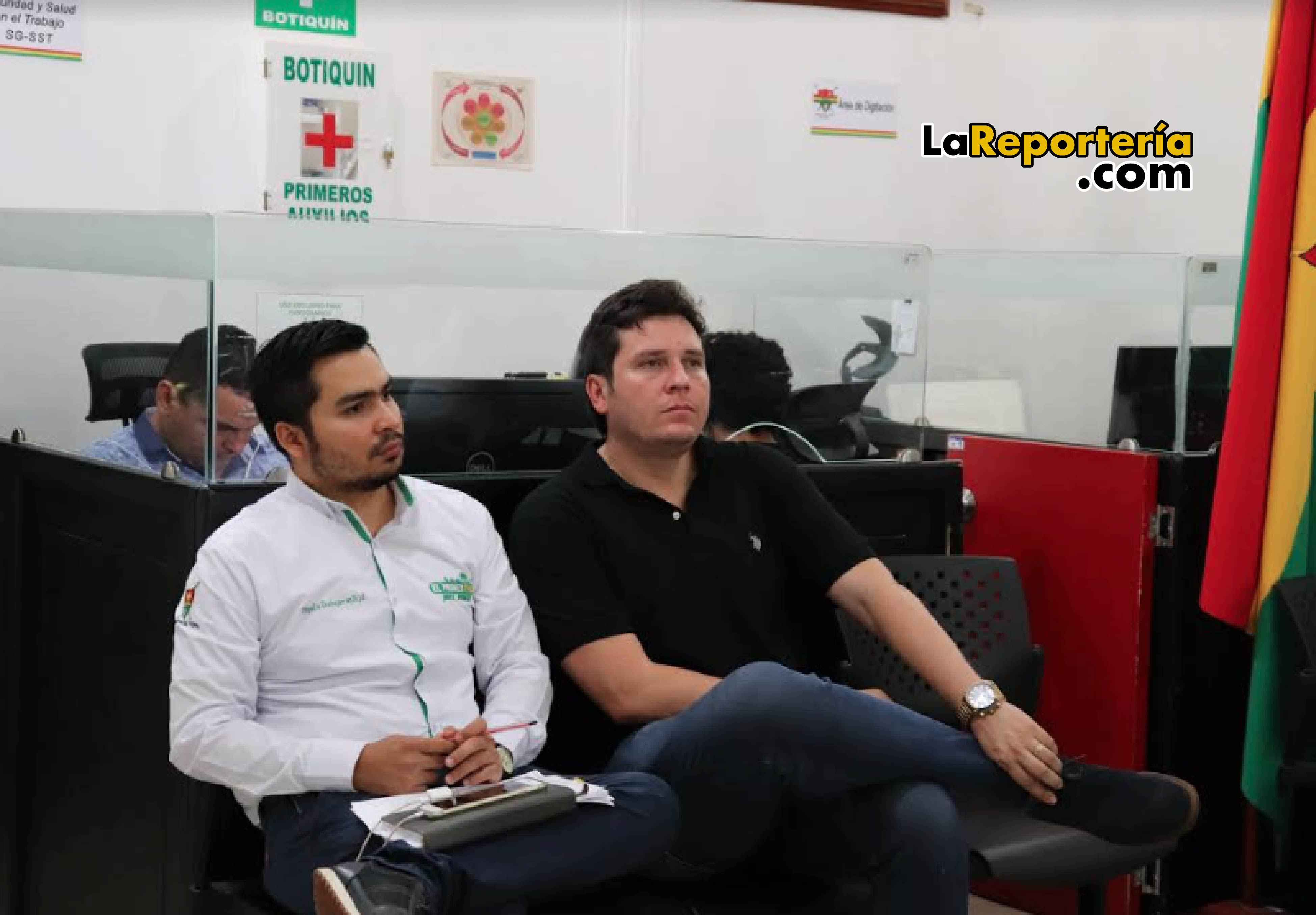 Secretarios Privado y de Obras de la Alcaldía de Yopal.