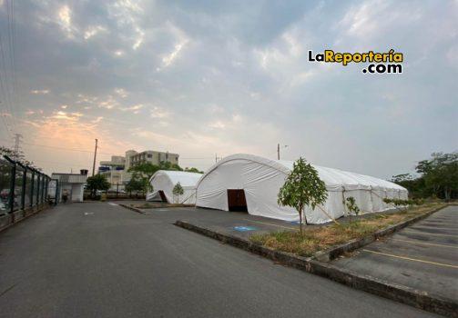 Hospital de Campaña ubicado en el HORO